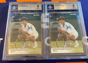 Lot of 2 2003 Netpro Tennis 70 Rafael Nadal Parera BGS 9 Mint SPAIN Rookie Cards