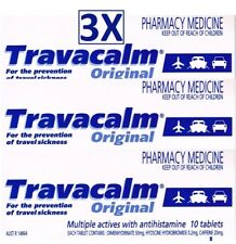 3X10 30 TABLETS OF TRAVACALM ORIGINAL FOR SEA&TRAVEL SICKNESS