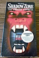 Shadow Zone The Undead Express (VHS 1999 Screening) Ron Silver Chauncey Leopardi