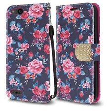 for ZTE Avid 4g Stand Folio Flip Leather Wallet Flap Pouch Case W/diamond