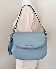 28f378b66c91 Michael Michael Kors Bedford Medium Tassle Convertible Blue Shoulder Bag