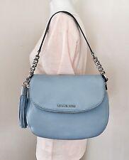 Michael Michael Kors Bedford Medium Tassle Convertible Blue Shoulder Bag