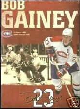 ORIGINAL PROGRAM from BOB GAINEY No 23 retiring jersey banner night 4 pages