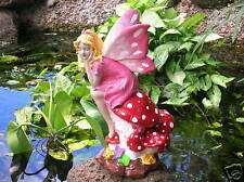 Fairy on a mushroom garden ornament cement plaster latex moulds molds