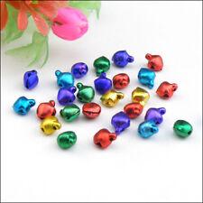 100Pcs Aluminium Bell Charms/Drops/Pendants 6mm Silver,Gold,Colored R0124