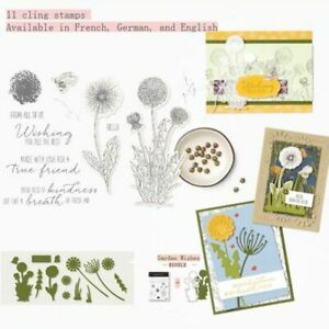 Dandelion Garden Cling Stamps Or Metal Cutting Dies Stencils for DIY Scrapbook