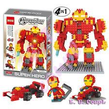 1pc RED super hero iron marvel avengers ultron armor diamond blocks hullk buster