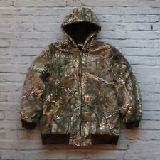 Carhartt Real Tree Camo Parka Jacket Lined Camouflage Work Vtg Womens M Wip