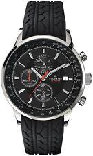 Accurist 7001 Chronograph Black Motor Sport Gents Watch 2 Yr Guarantee RRP £159