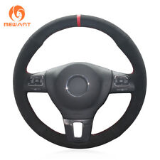 Non-Slip Suede DIY Steering Wheel Cover for VW Gol Tiguan Passat B7 CC Jetta Mk6
