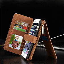 Leather Wallet Case For Samsung Galaxy S6 S7 edge S8 Plus Note8 Men PU Phone Bag