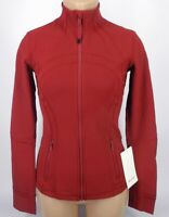 NEW LULULEMON Define Jacket 10 Dark Sport Red Luxtreme FREE SHIP