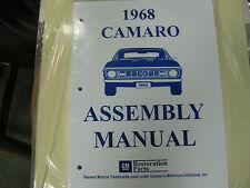 1968 CAMARO (ALL MODELS) ASSEMBLY MANUAL