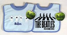 SET OF 2 ~ Blue Beatles Baby Boy Bibs ~ ABBEY ROAD Bib & HELP Bib