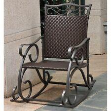International Caravan 4104-Rkr-Ch Lisbon Resin Wicker Patio Rocking Chair New