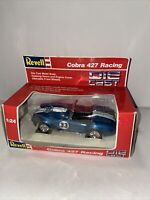 From 1989 Revell 1:24 Scale Model Car 8623- Shelby Cobra 427 Racing - Blue #33