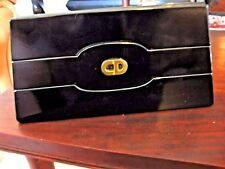Christian Dior Black Patent Leather Crossbody Clutch EVENING PURSE