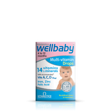 Multi-Vitamin drops, vitamin A, C and D  30 ml Wellbaby Vitabiotics
