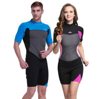 Men Women Shorty Wetsuit 2mm Neoprene Scuba Diving Snorkeling Surfing Wetsuits