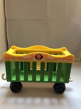 Vintage Fisher Price Little People  CIRCUS TRAIN GREEN CAR