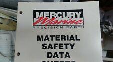MERCURY MARINE PRECISION PARTS MSDS BOOK PART#90-80867898