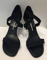 Donald J Pliner Women's Black Strappy Heel Sandals size 7 M