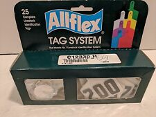 """Allflex Tag System Large Female White w/Buttons 2.25"""" x 3"""" ~ White 176 - 200"""