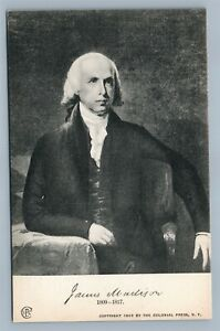 AMERICAN PRESIDENT JAMES MADISON ANTIQUE POLITICAL PATRIOTIC 1902 POSTCARD