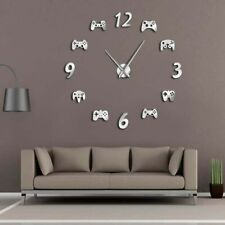 Stick On The Wall DIY Clock Game Room Console PS4 Controller Frameless Watch NEW