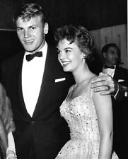 Natalie Wood Tab Hunter rare smiling Candid original Photo Hollywood Party 1950s