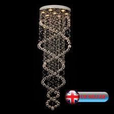 Ai Lighting ®Modern Double Spiral Ceiling Pendant Chandelier K9 Crystal Raindrop