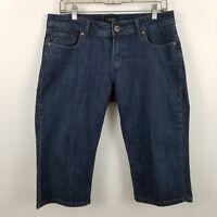 Vigoss Classic Capri Women's Dark Wash Blue Jeans Size 9/10