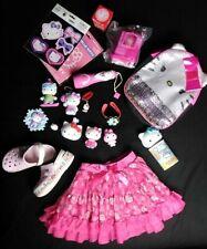 Hello Kitty lot of 18â�¤ï¸�Crocsâ�¤ï¸� Skirtâ�¤ï¸�Flashlightâ�¤ï ¸�Auto Stickers â�¤ï¸� Toys & more!