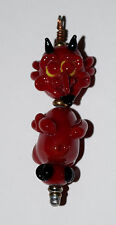Handmade Glass Lampwork Bead DEVIL IN DETAIL approx 2 1/4 inches tall