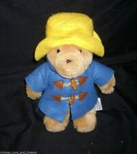 "10"" VINTAGE KIDS GIFTS PADDINGTON TEDDY BEAR STUFFED ANIMAL PLUSH TOY BLUE COAT"