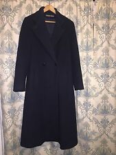 Reflections Vintage Black Wool Blend Trench Coat Jacket Women's Size 12