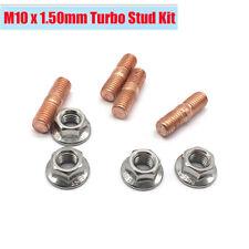 4Sets M10x1.50 Thread T3 T4 T5 T6 Turbochargers Alloy Steel Studs + Flange Nuts