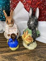 Beatrix Potter Royal Doulton Dollie Bunnykins figurines lot of 2