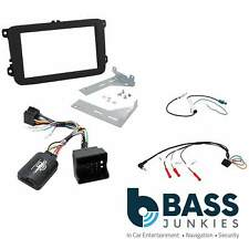 VW Scirocco MK3 2008 Car Stereo Double Din Fascia & Steering Wheel Interface Kit