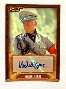 2008 INDIANA JONES TOPPS HERITAGE AUTOGRAPH CARD MICHAEL BYRNE VOGEL SIGNED