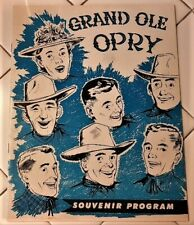 ROCKABILLY 1955 GRAND OLE OPRY PROGRAM ELVIS PRESLEY SUN RECORDS WANDA JACKSON