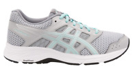Fast shipping ASICS Women's GEL-Contend 5 Running Shoes Grey/Teal - Wide/D NEW !