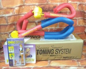 Vintage Suzanne Somers Toning System Thighmaster Gold & LBX W/ VHS Booklet Box