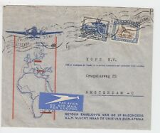 WW2 KLM Illustrated Air Mail Cover 1940 to Amsterdam 1s3d Air Mail Rate