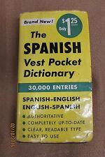 Spanish Vest Pocket Dictionary 1954 Random House Book