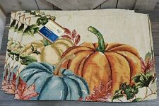 """New listing Lot 4 Place Mats Napperon Home Collection Fall Harvest Autumn 13""""x18"""" Place mat"""