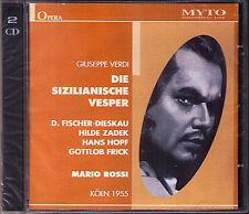 VERDI: DIE SIZILIANISCHE VESPER Fischer-Dieskau Hilde Zadek Hopf Frick ROSSI 2CD