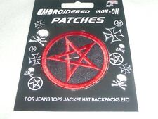 IRON ON PATCHES JOBLOT 12 NEW ADULT GOTH//PUNK EMBROIDERED PATCH RED IRON CROSS