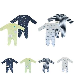 Baby Boys Sleepsuits Babygrows MULTIPACK Rompers All In One Little Wonders Gift