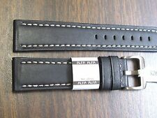 22mm Alfa Euro genuine Leather Anti Allergic Watch Band Soft & Quality